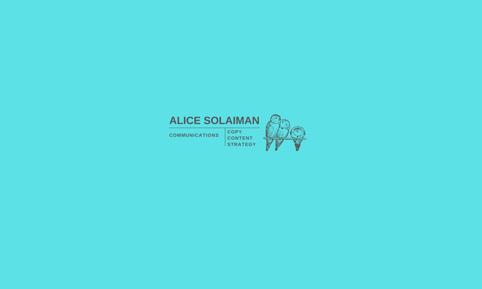 ALICE SOLAIMAN